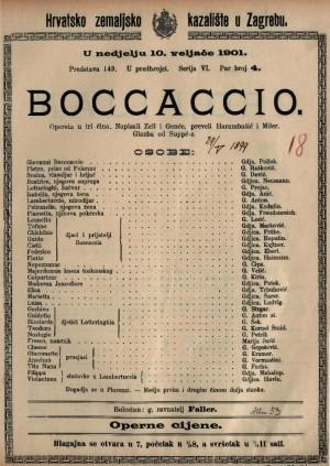 Boccaccio opereta u tri čina / glazba od Suppé-a