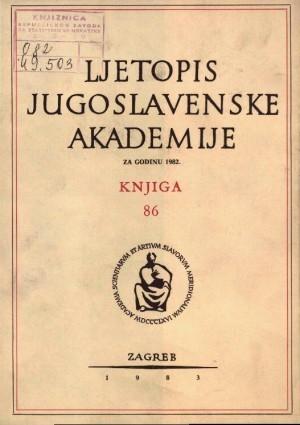 Za godinu 1982. Knj. 86 : Ljetopis