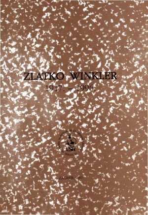 Zlatko Winkler : 1917.-1996. : Spomenica preminulim akademicima