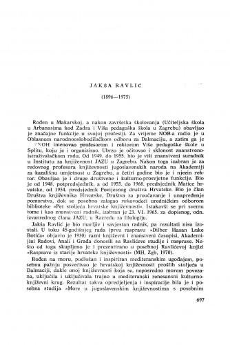 Jakša Ravlić (1896-1975) : [nekrolozi] / R. Bogišić