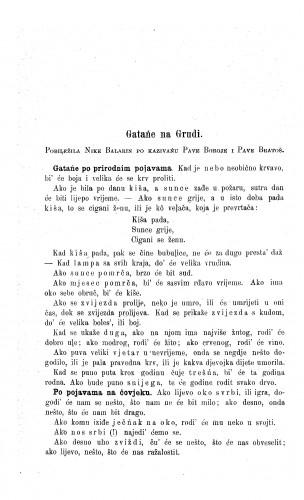Gatańe na Grudi : po kazivańu Pave Boroje i Pave Bratoš / N. Balarin