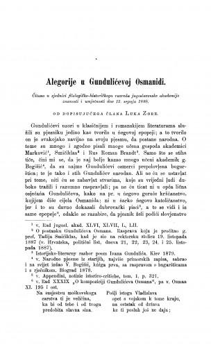 Alegorije u Gundulićevoj Osmanidi