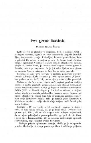 Prvo pjevańe Davideide / Milivoj Šrepel