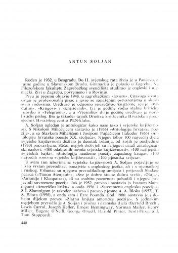 Antun Šoljan : [biografije novih članova Akademije]