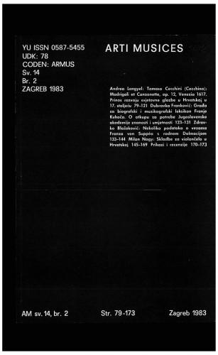 God. 14(1983), br. 2 : Arti musices