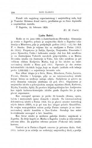 Ljuba Babić / M. Kl. Crnčić