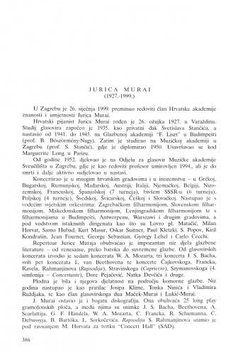 Jurica Murai (1927.-1999.) / Koraljka Kos