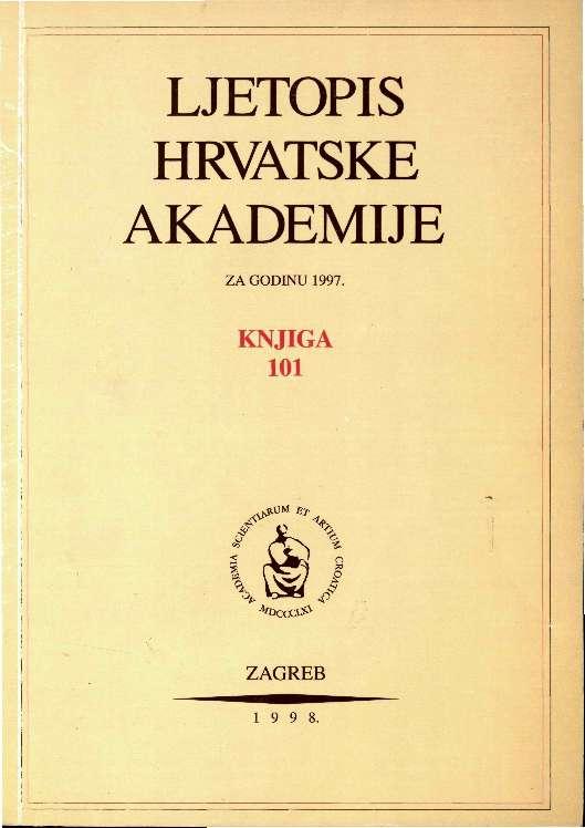 1997. Knj. 101 : Ljetopis