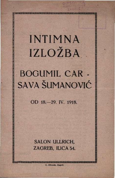 Intimna izložba Bogumil Car - Sava Šumanović