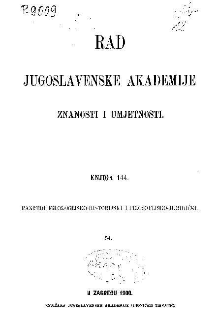 Knj. 54(1900) : RAD