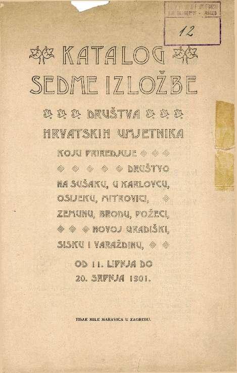 Katalog sedme izložbe Društva hrvatskih umjetnika