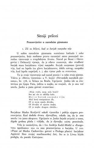 Praznovjerice u narodnim pjesmama / S. Banović