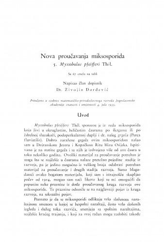 Nova proučavanja miksosporida