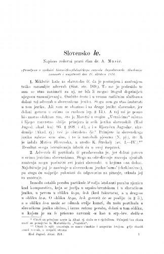 Slovensko le