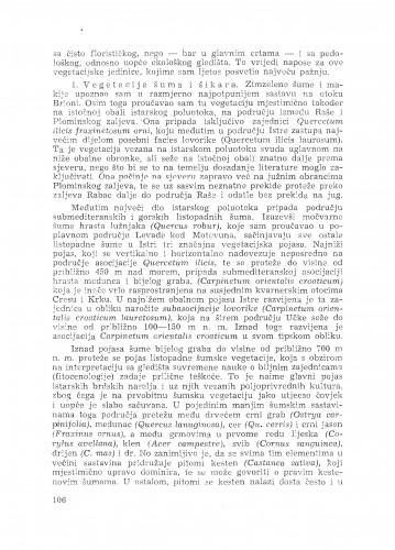 Istraživanje vegetacije u Istri god. 1948 / S. Horvatić