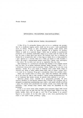 Spinozina filozofija racionalizma