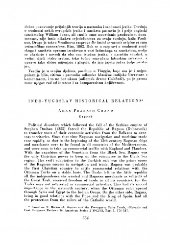 Indo-Yugoslav Historical Relations