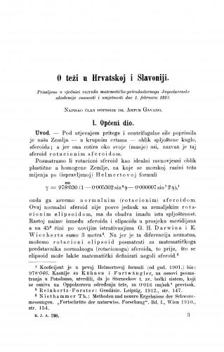 O teži u Hrvatskoj i Slavoniji