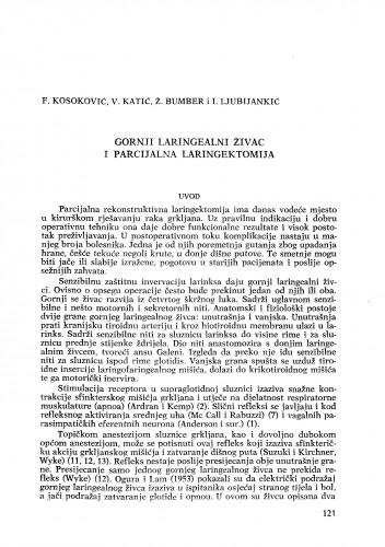 Gornji laringealni živac i parcijalna laringektomija