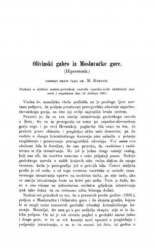 Olivinski gabro iz Moslavačke gore