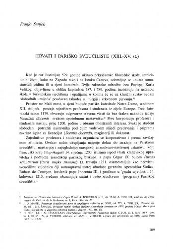 Hrvati i Pariško sveučilište (XIII.-XV. st.)
