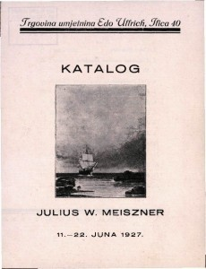 Katalog Julius W. Meiszner - 11. - 22. juna 1927.