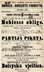 Noblesse oblige dramatična studija u 1 činu / od Drag. Gründorfa