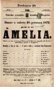 Amelia opera u 4 čina / od Ivana pl. Zajc