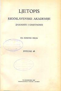 Za godinu 1935/36. Sv. 49 : Ljetopis
