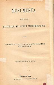 Knj. 1 : Od godine 1479 do 1610 : Monumenta spectantia historiam Slavorum meridionalium