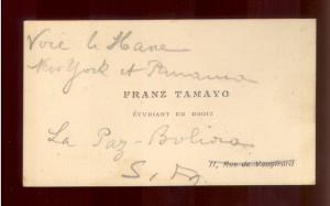 Franz Tamayo etudiant en droit