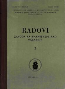 Knj. 2(1988) : Radovi Zavoda za znanstveni rad Varaždin