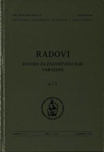Knj. 6-7(1994) : Radovi Zavoda za znanstveni rad Varaždin