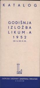 Godišnja izložba LIKUM-a 1952