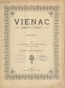 Vienac : zabavi i pouci : Hemeroteka i katalozi Strossmayerove galerije
