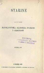 Knj. 4(1872) : Starine