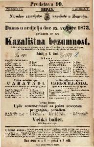 Kazalištna bezumnost Velika šaljiva igra s pjevanjem u 2 čina 83 predstave) s jednom predigrom / po Morlanderu, glsba od Stoltza