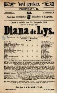 Diana de Lys Igrokaz u 5 čina / od Aleksandra Dumasa, sina