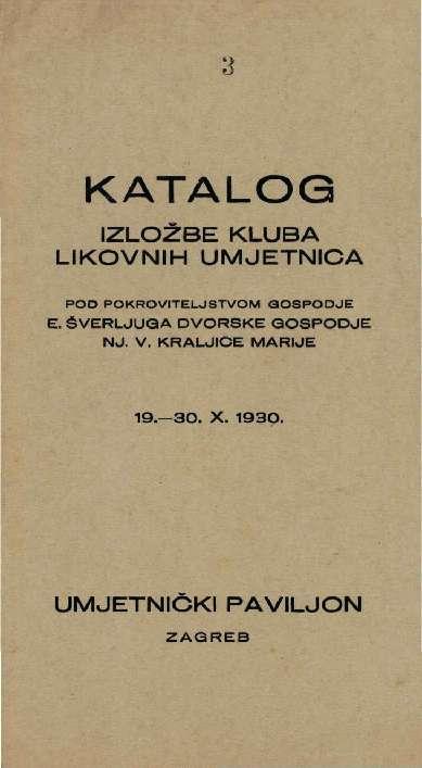 Katalog izložbe Kluba likovnih umjetnica