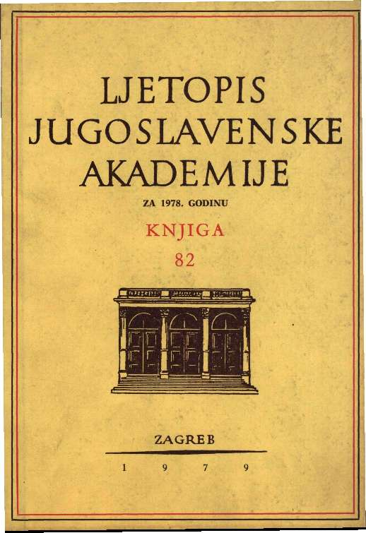 Za godinu 1978. Knj. 82 : Ljetopis