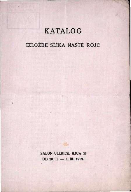 Katalog izložbe slika Naste Rojc