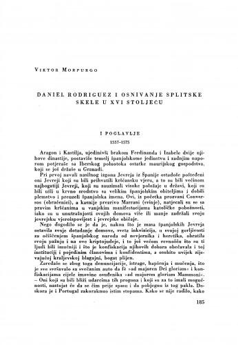 Daniel Rodriguez i osnivanje splitske skele u XVI stoljeću / Viktor Morpurgo