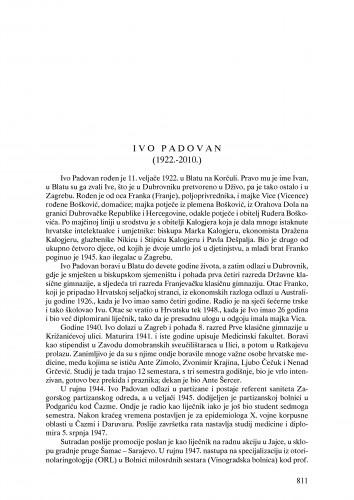 Ivo Padovan (1922.-2010.) : nekrolog : Ljetopis