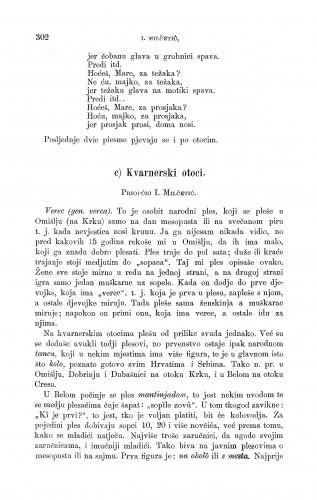 Kvarnerski otoci : igre i plesovi : Zbornik za narodni život i običaje
