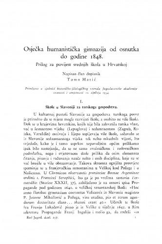 Osječka humanistička gimnazija od osnutka do godine 1848.