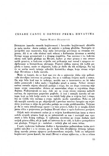 Cesare Cantú u odnosu prema Hrvatima