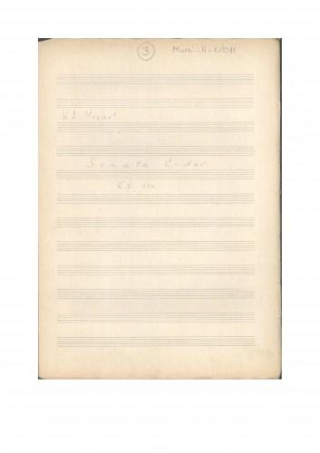 Sonata C-dur K. V. 330