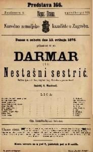 Darmar ili Nestašni sestrić šaljiva igra u 5 čina / napisao Aug. Kotzebu-a