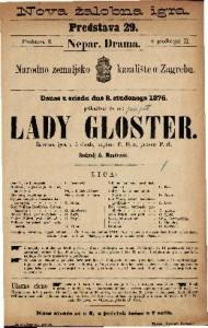 Lady Gloster : žalobna igra u 5 činah / napisao P. Byrr