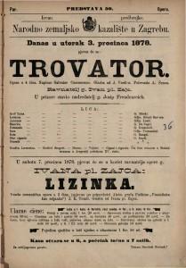Trovator opera u 4 čina / glasba od Josipa Verdi-a